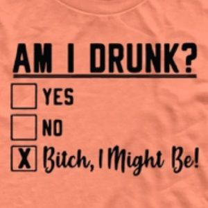 "NEW ""Am I Drunk?"", graphics tee!"
